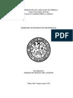 papeles de trabajo contador Público y auditor aplicable en Guatemala