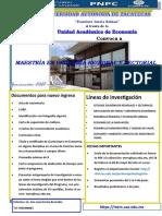Convocatoria Maestria 20 Abrl 2021