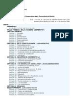 Ley de Cooperativas Comunidad de Madrid