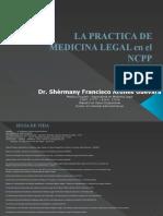 MEDICINA LEGAL EN EL NCPP.