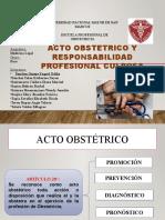 Acto Obstetrico y Responsabilidad Profesional