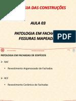 PAT - Aula 03 - Patologia em Fachadas, Fissuras Mapeadas