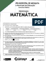 Prof Mat Mesquita 2010 - prova