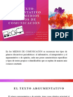 EL TEXTO ARGUMENTATIVO EN LOS MEDIOS MASIVOS DE COMUNICACIÓN - 2° NIVEL
