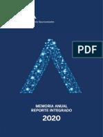 Memoria Anual Reporte Integrado 2020 BBVA Argentina