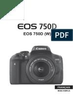 Notice CANON EOS 750D