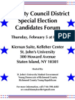 SI Young Dems & Young Reps 49th City Council District Special Election Forum_2-5-09