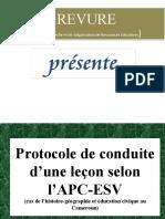 Protocole de conduite d'une leçon selon l'APC/ESV