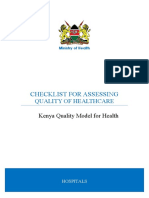 KQMH Hospital Checklist for Assessing Quality of Care