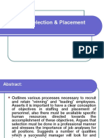 Employee Selection & Placement