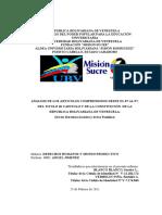 ANALISIS DE LOS ARTICULOS COMPRENDIDOS DESDE EL 87 AL 97, DEL TITULO III CAPITULO V DE LA CONSTITUCIÓN  DE LA REPUBLICA BOLIVARIANA DE VENEZUELA.