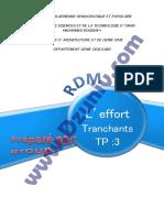 TP RDM - Efforts Tranchants _ TP3 + Compte Rendu _ - Résistance des Matériaux 6416