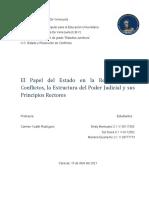 El Papel Del Estado en La Resolución de Conflictos, La Estructura Del Poder Judicial y Sus Principios Rectores
