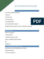 Programme Formation Java-JEE
