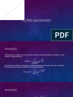 Slide Filtro Gaussiano