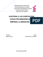 Auditoria de cuentas por pagar proveedores (caso práctico)
