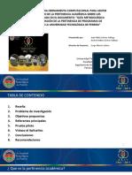 PRESENTACIÓN DEL PROYECTO DE GRADO DE PERTINENCIA CURRICULAR