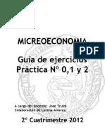 Microeconomia - Practica 0, 1 y 2, Con Sus Respuestas