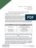 Boletín 098 4ta Etapa Vacunación Municipios (Jueves 22 de Abril de 2021)