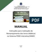 Manual Remanejamento 2021