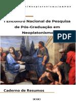 -Resumo Anais - Notas sobre o Conceito de Matéria e Mal em Plotino - Robert Brenner - GT Neoplatonismo, p13 2020
