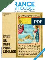 210409 France Catholique n° 3720 EXTRAIT sur CONVERTIS et MISSION ISMERIE (6 pages)