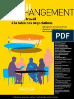 2. Revue Travail et Changement (Inviter le travail à la table des négociations) ARACT (mai-juin-juillet-août 2018)