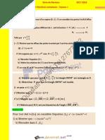 Série d'exercices N°2 - Math - Série de révision nombres complexes - Bac Sciences exp (2017-2018) Mr Oueslati Aymen