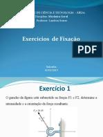 Exercícios de Fixação - I Unidade