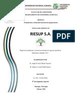 Formulación y Evaluación de Proyectos Agropecuarios.