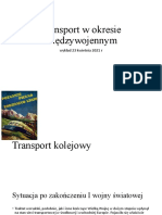 Transport w okresie międzywojennym