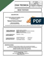 MANI TOSTADO - FICHA TECNICA  2019