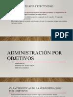 Administración Por Objetivos -APO