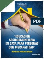 5. Educacion Sociocomuniaria en Casa Para Personas Con Discapacidad