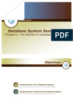 T1 - Chapter 1 - The worlds of Database Systems