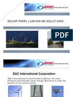 Solar Panel Luminaire Solutions