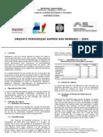 Enquête périodique auprès des ménages 2004 - Policy brief (INSTAT/2006)