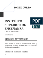 CURSO DE HELADOS ARTESANALES ISE