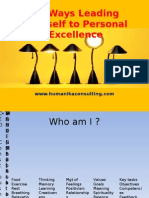 Leading yourself to Personal Excellence