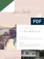 Pink and Brown Simple Handwritten Portfolio Presentation