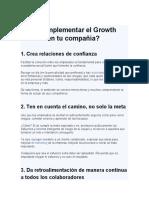 Growth mindset, solo leerlo