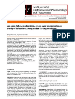 An open-label, randomized, cross-over bioequivalence study of lafutidine 10 mg under fasting condition