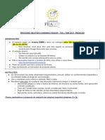 Proposta Redação - PS TSE e TSM - Cursinho FEAUSP