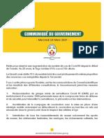 Communiqué du Gouvernement - Mercredi 24 Mars 2021 -