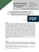 O uso de métodos quantitativos em pesquisas sobre avaliação da