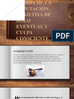 TEORÍA DE LA IMPUTACIÓN SUBJETIVA DE DOLO EVENTUAL Y CULPA CONSCIENTE (PPT)