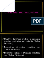 Creativity and Innovation