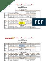 Planning L2 IRT-Avédji, 15 au 27 Mars 2021