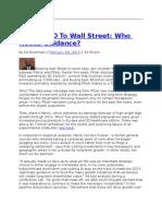 Merck CEO To Wall Street