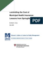 UMass-Boston/Harvard Study on Cost of Springfield Municipal Health Insurance